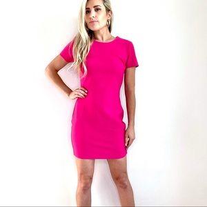 Revolve Likely Hot Pink Short Sleeve Sheath Dress